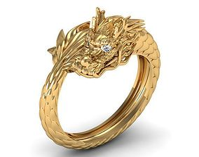 Dragon ring round 3D print model