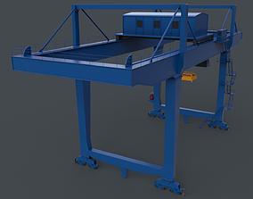 3D asset PBR Rail Mounted Gantry Crane RMG V2 - Blue