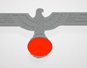 WW2 German Army Navy Office Breast Eagle 3D print model 1