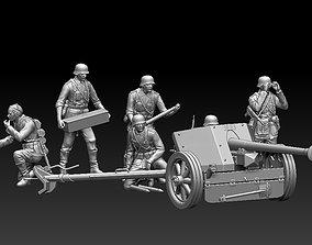 German artillery 3D print model