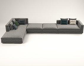 3D model Wise corner sofa