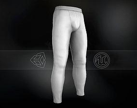 White Skinny Medieval Pants 3D asset