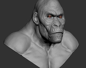 Hybrid gorilla bust 01 - Highpoly Sculpture 3D model