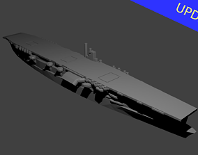 Japanese Aircraft Carrier Akagi 3D printable model