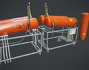 3D asset Gas Cylinder 2
