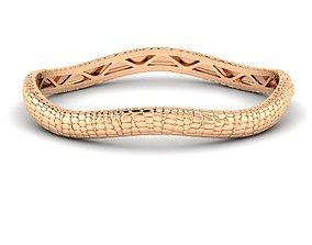 3D print model Bracelet Skin leather