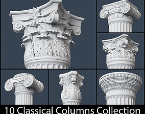 3D 10 Classical Columns Collection
