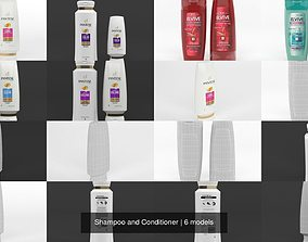 Shampoo and Conditioner 3D model