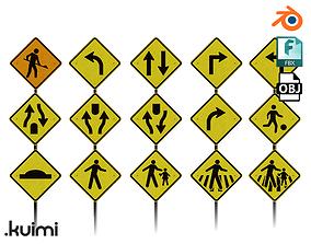 3D model Road Sign Pack - 001