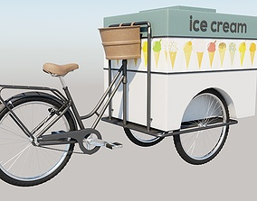 Traditional Three-wheeled Tricycle 3D
