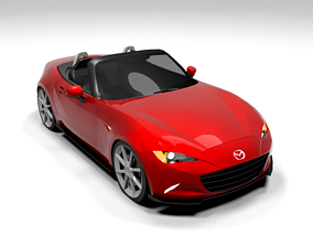 MAZDA MX 5 CABRIO LOWPOLY 3D asset