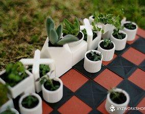 3D print model Micro Planter Chess Set