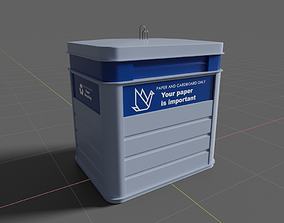 3D Paper recycling container