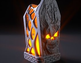 3D printable model Halloween Tomb Lamp