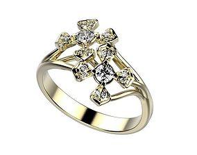 emerald 3D printable model Ring