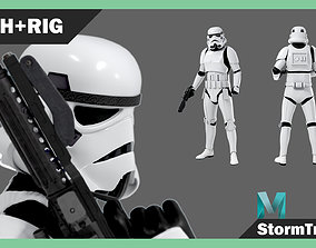 StormTrooper Rigged Textured Model 3D