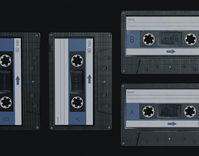 3D model realtime Audio Cassette