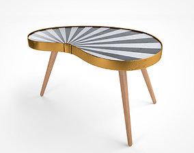 3D Vintage Side Table Stripes