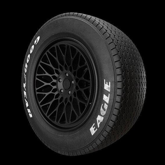 Old racing car wheel