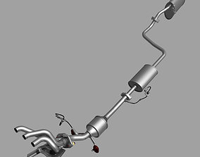 Car Exhaust System 3D model