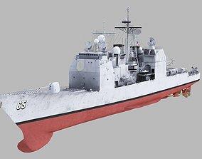 3D model USS Chosin CG-65 Ticonderoga Class