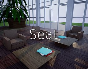 Seat SHC Quick Office LM 3D asset
