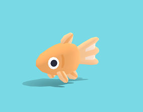 3D model Bubbles the Goldfish - Quirky Series