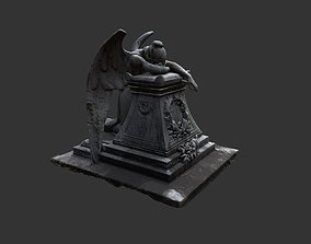 game-ready Crying Angel Statue DAE FBX 3DS OBJ 3D 2