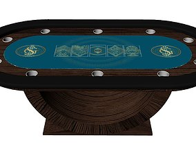 3D asset POKER TABLE