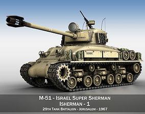 3D M51 Israel Super Sherman - 1