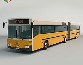 3D asset Low Poly City Bus 02