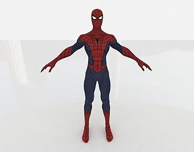 3D asset Spider Man low