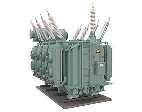3D model Electrical Transformer 4