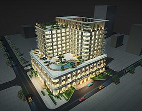 Contemporary hotel 3D model