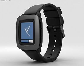 Pebble Time Black 3D