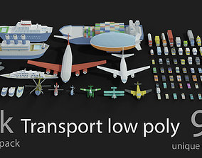 Transport low poly 3D asset