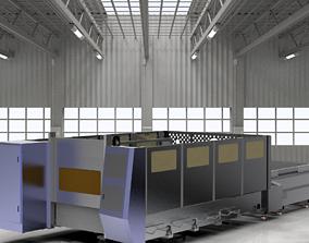 Large laser cutting machine 3D model