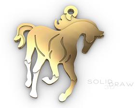 Pendant horse equestrian 3D printable model
