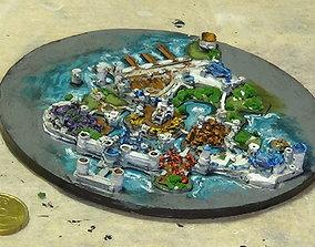 Stormwind World of Warcraft miniature city 3D print ready