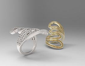 3D print model Loop Ring with small gems