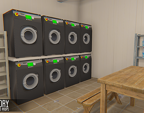 3D model Laundry - interior and props