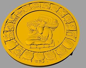 Mayan Belt Buckle 3D print model
