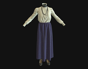 Dress shirt 3D asset low-poly