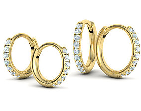 3D model Two Hoop Earrings Collection with discount