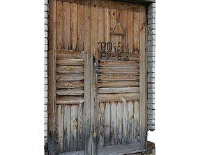 Old door scan 27 3D asset