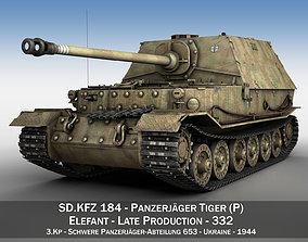 Elefant Tank destroyer - Tiger P - 332 ferdinand 3D model