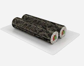 Sushi Roll Long 3D asset