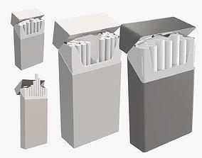 3D cigarette pack open super slim compact open mock-up