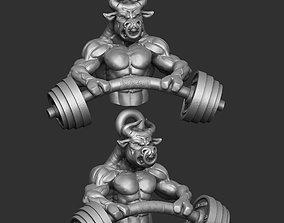 Bull pendant 3D printable model