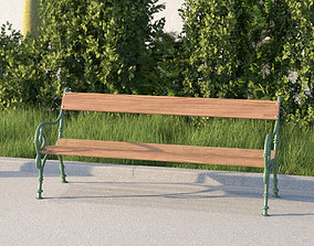 vienna public park bench 3D model